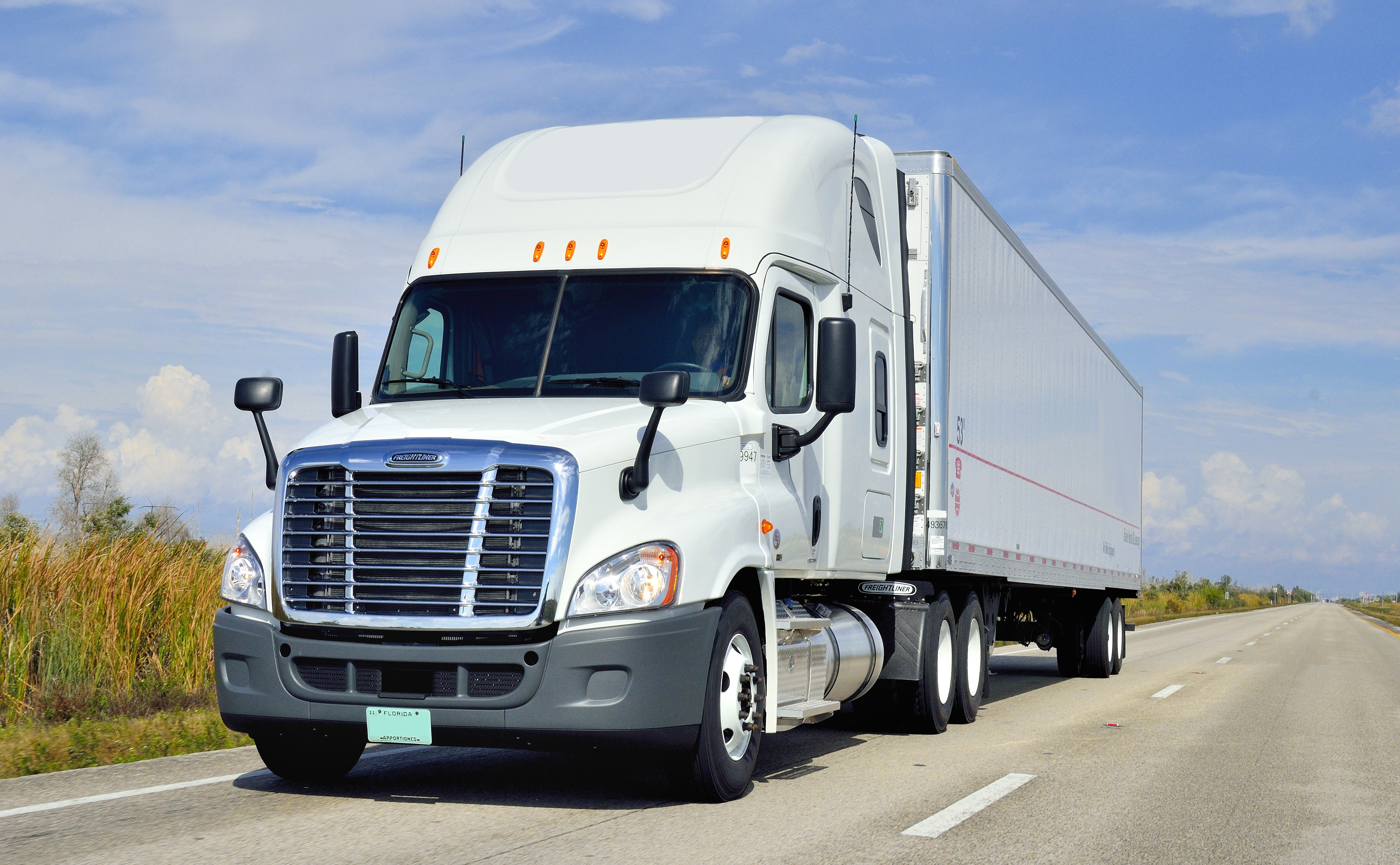 freightliner profesionales a trailer